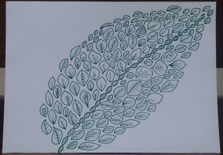 doodle daun